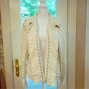 Vince Camuto lightweight jacket beige sz L blazer